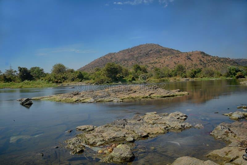 Corps d'eau de rivière de Cauvery images libres de droits