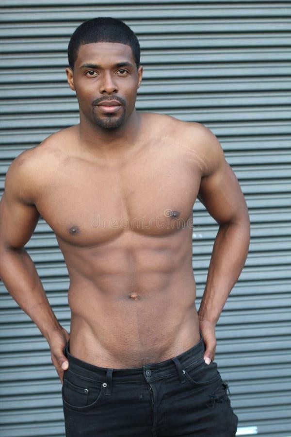 Corps d'un mâle chaud d'Afro-américain image stock