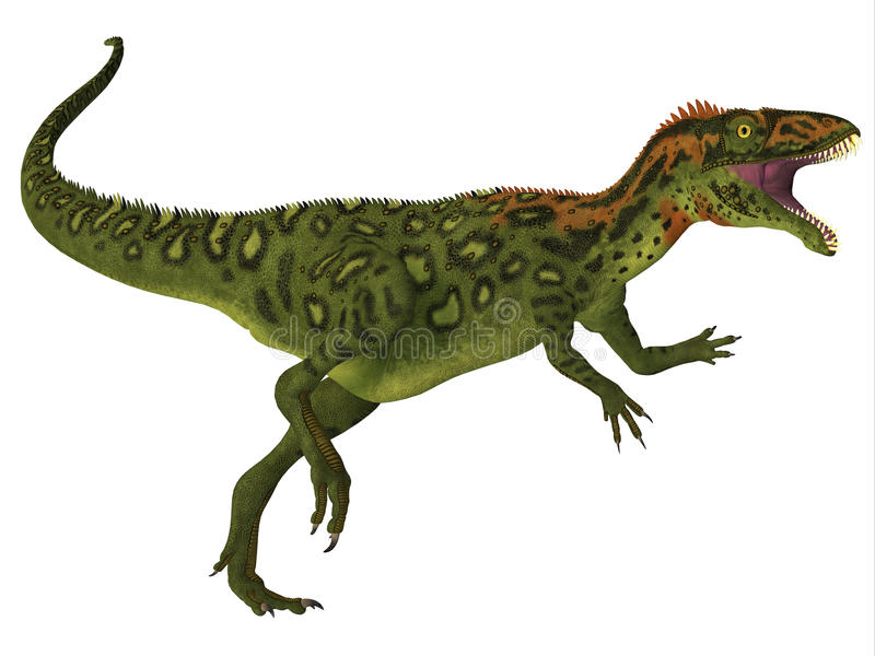Corps de dinosaure de Masiakasaurus illustration stock