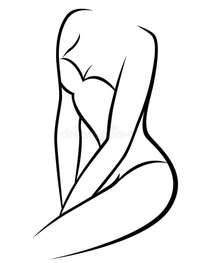 Corps gracieux femelle abstrait illustration libre de droits