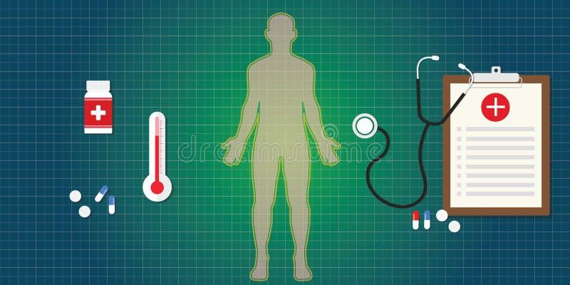 Corps humain de système immunitaire illustration de vecteur