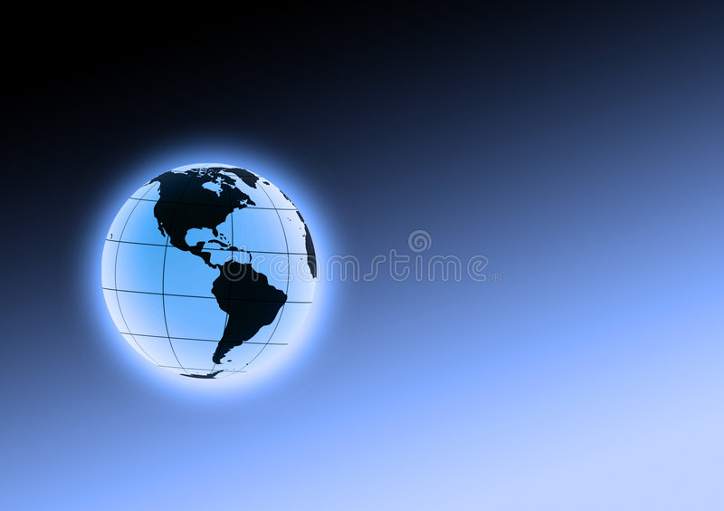 Corps rond bleu de la terre illustration de vecteur