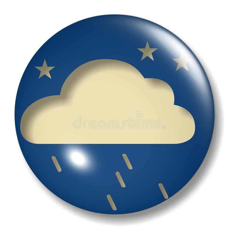 Corps rond de bouton de pluie de soirée illustration libre de droits