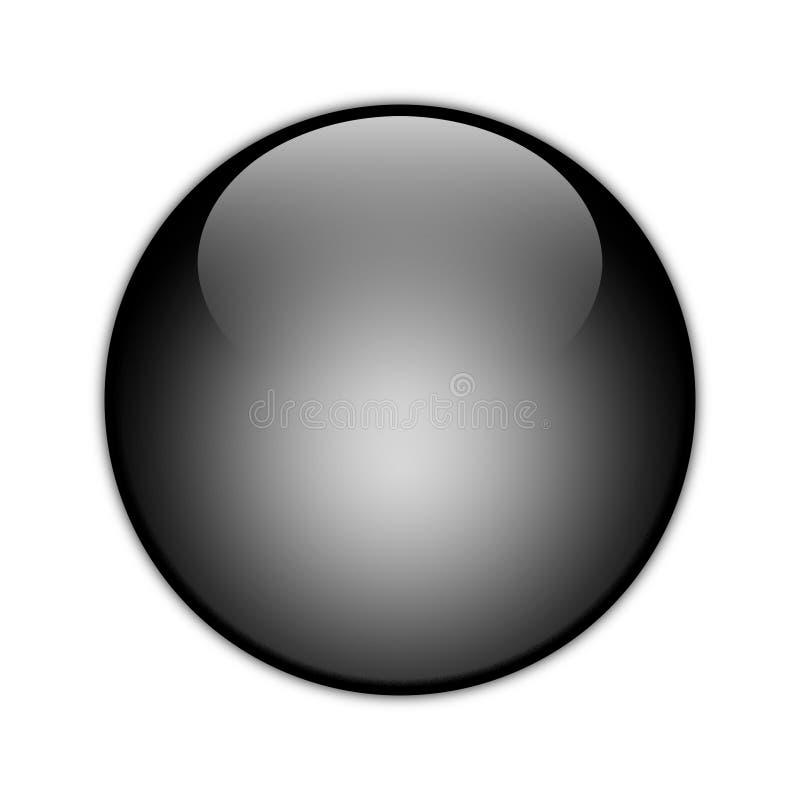 Corps rond noir [01] illustration stock