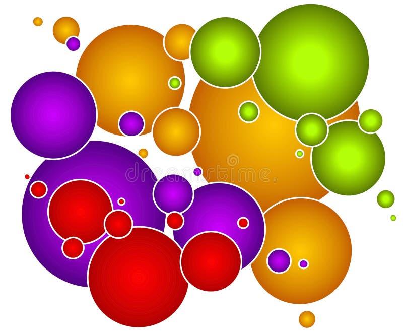 Corps ronds colorés de cercles de bulles illustration libre de droits