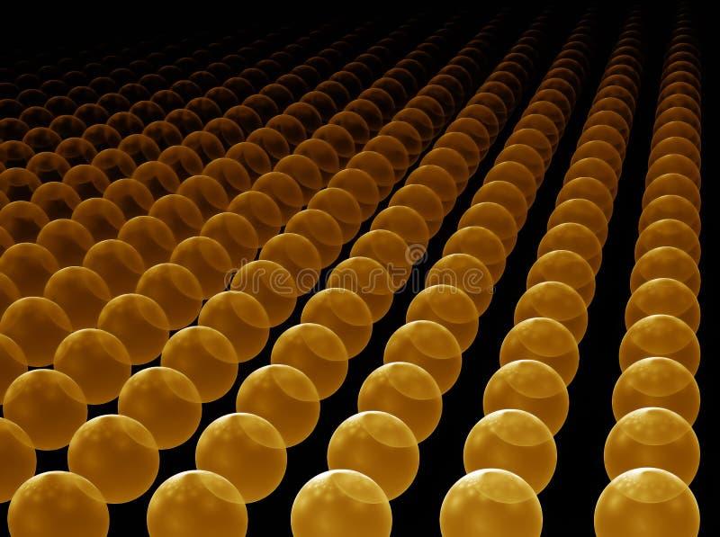 corps ronds d'or d'horizon illustration libre de droits