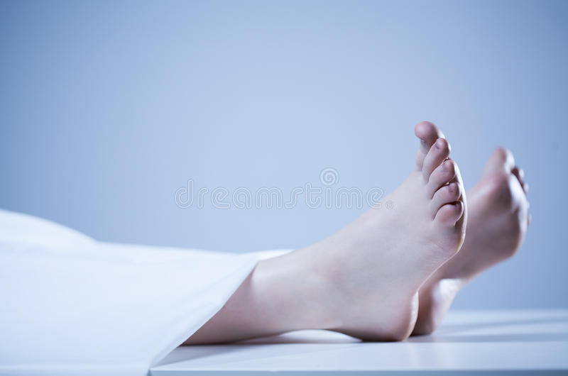 Corpse of person royalty free stock images