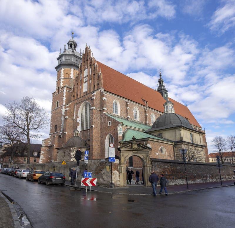 Corpus Christi bazylika - Gocki ko?ci??, lokalizowa? w Kazimierz okr?gu Krakow, Polska zdjęcie royalty free