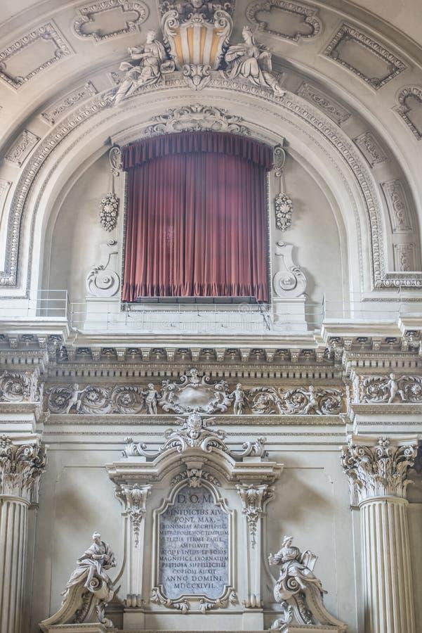 Corpus Christi da igreja da chapa memorável na Bolonha fotos de stock royalty free