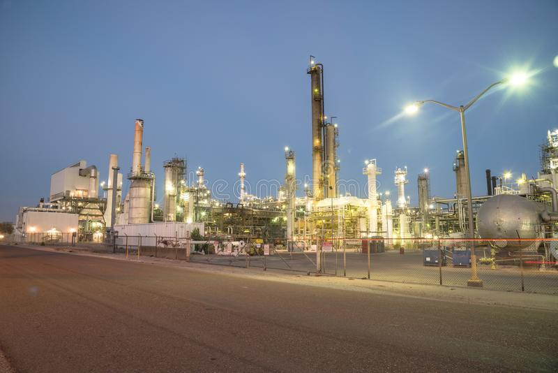 Corpus Christi de raffinerie de pétrole, le Texas, Etats-Unis photographie stock libre de droits