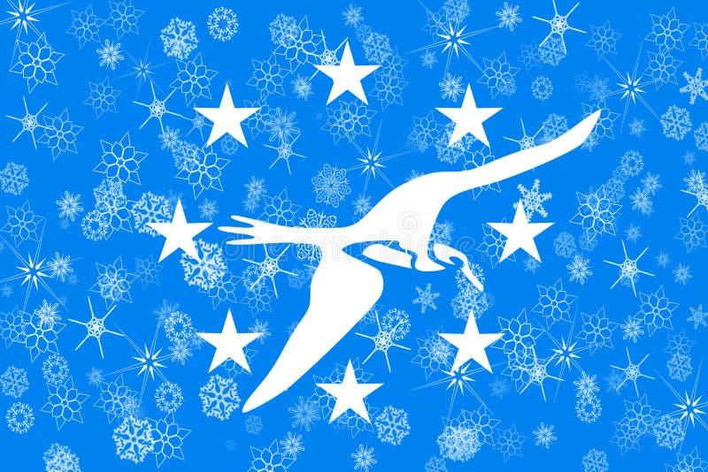 Corpus Christi, fond de drapeau de flocons de neige d'hiver du Texas Les Etats-Unis d'Amérique illustration stock