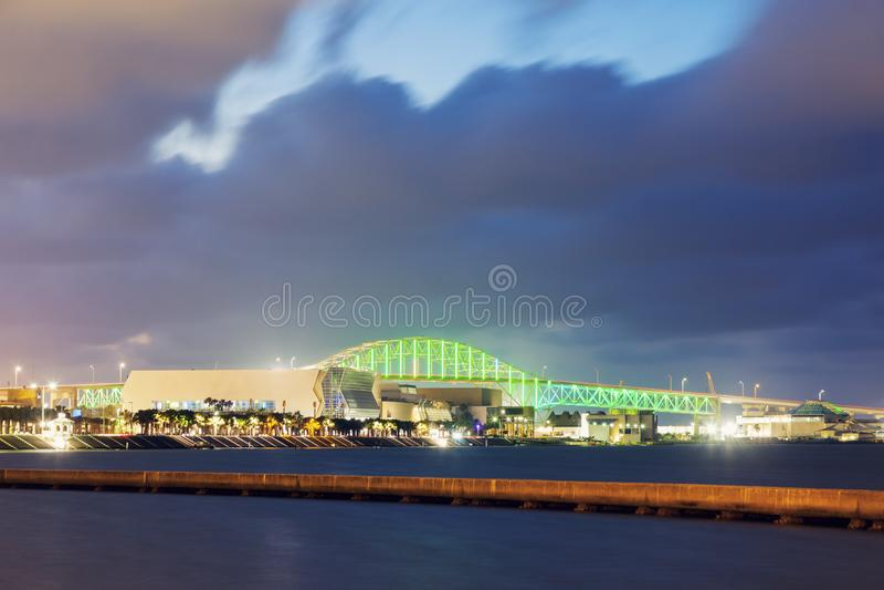 Corpus Christi Harbor Bridge royalty free stock images