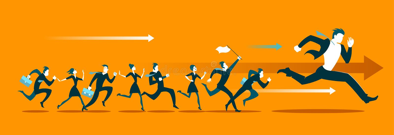 Corra a competição Vá! ilustração do vetor