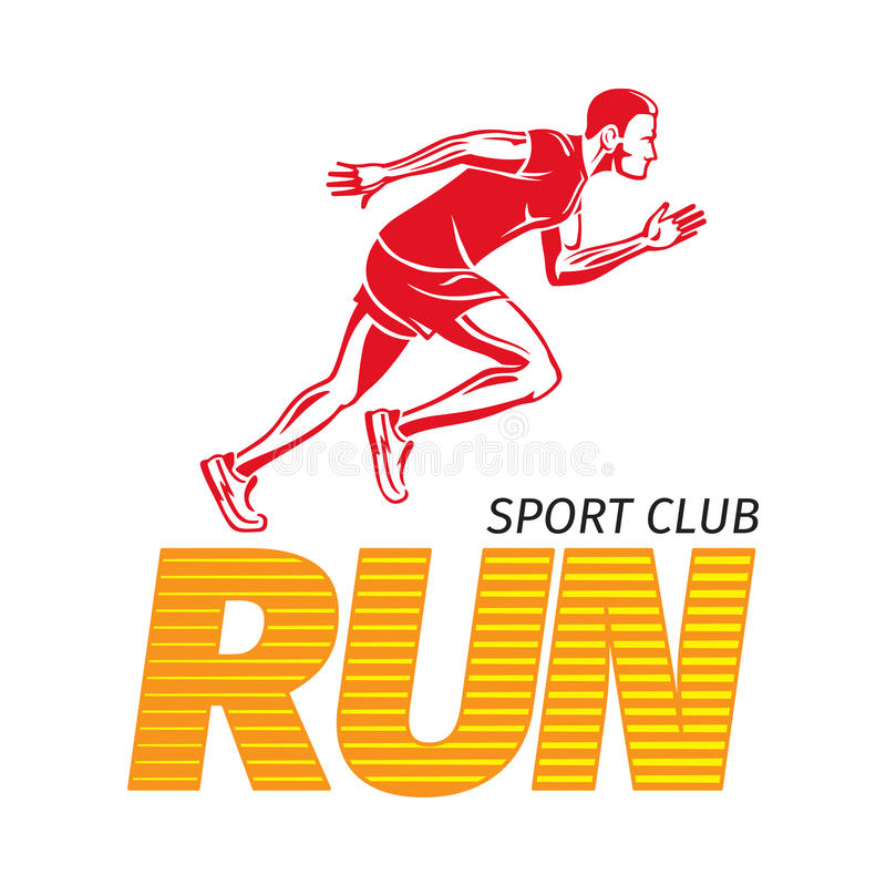 Corra o clube de esporte Homem movimentando-se Basculador rápido Vetor ilustração royalty free