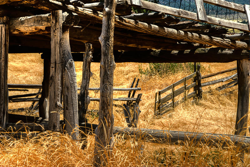Corral gate stock image