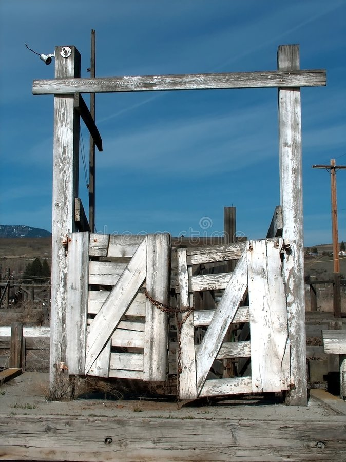 Corral Gate stock photography