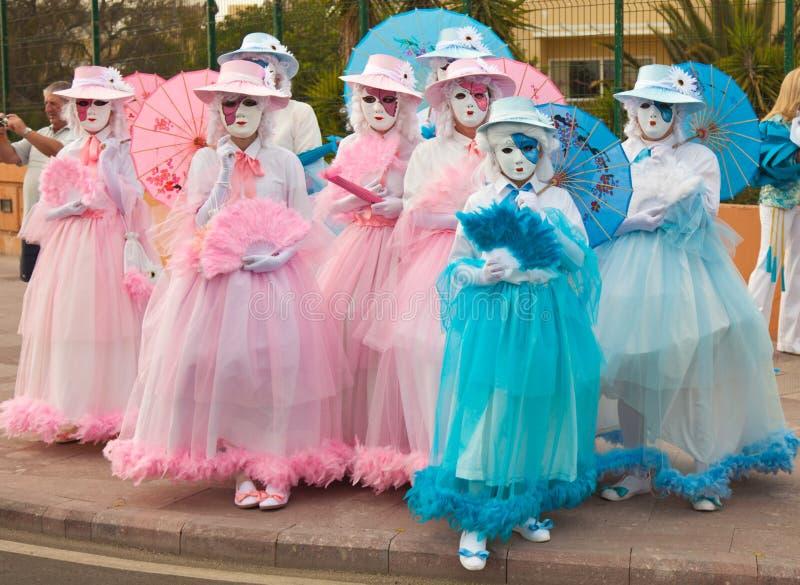 Corralejo Carnival royalty free stock photo