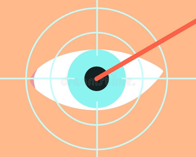 Correção da visão do laser ilustração royalty free