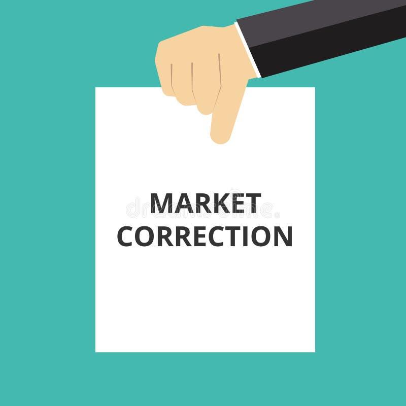 correção do mercado do texto ilustração stock