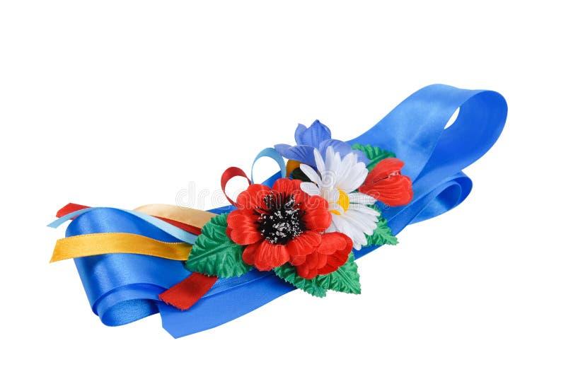 Correa azul marino tradicional ucraniana imagenes de archivo