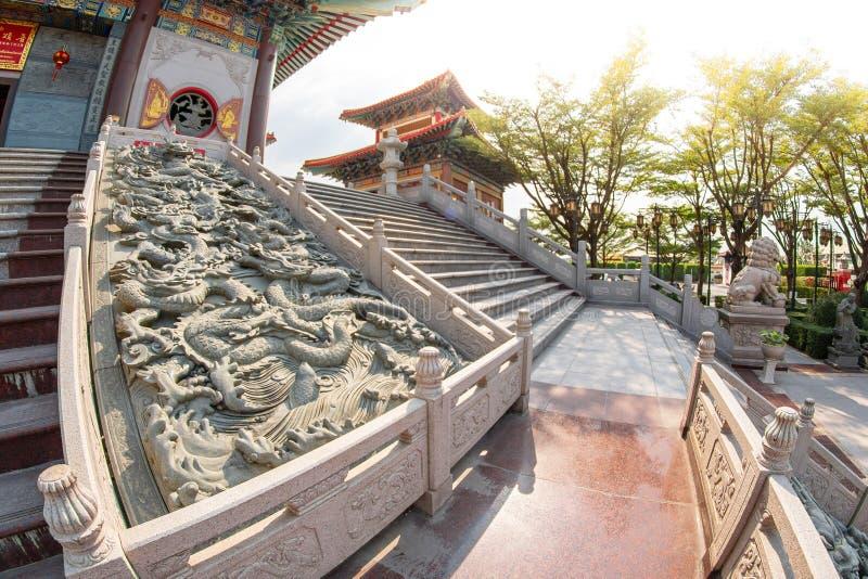 Correa de Bua de la explosi?n, Nonthaburi, Tailandia - 17 de enero de 2019: Lugar de culto f del templo 2 de Borom Racha Kanchana imagenes de archivo