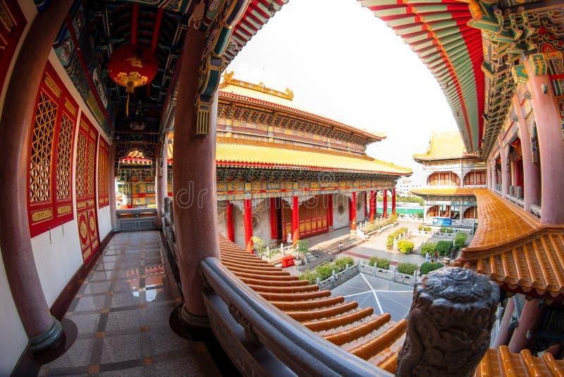 Correa de Bua de la explosi?n, Nonthaburi, Tailandia - 17 de enero de 2019: Lugar de culto f del templo 2 de Borom Racha Kanchana imagen de archivo libre de regalías