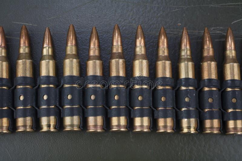 5 correa de la munición de la OTAN de 56m m fotos de archivo libres de regalías