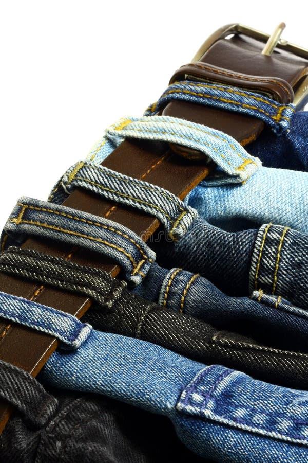 Correa de los pantalones vaqueros foto de archivo libre de regalías