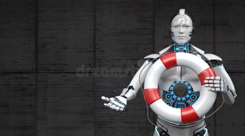 Correa de vida del robot stock de ilustración