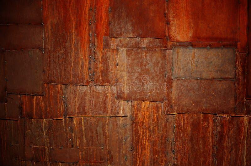 Correcções de programa oxidadas do metal fotografia de stock royalty free
