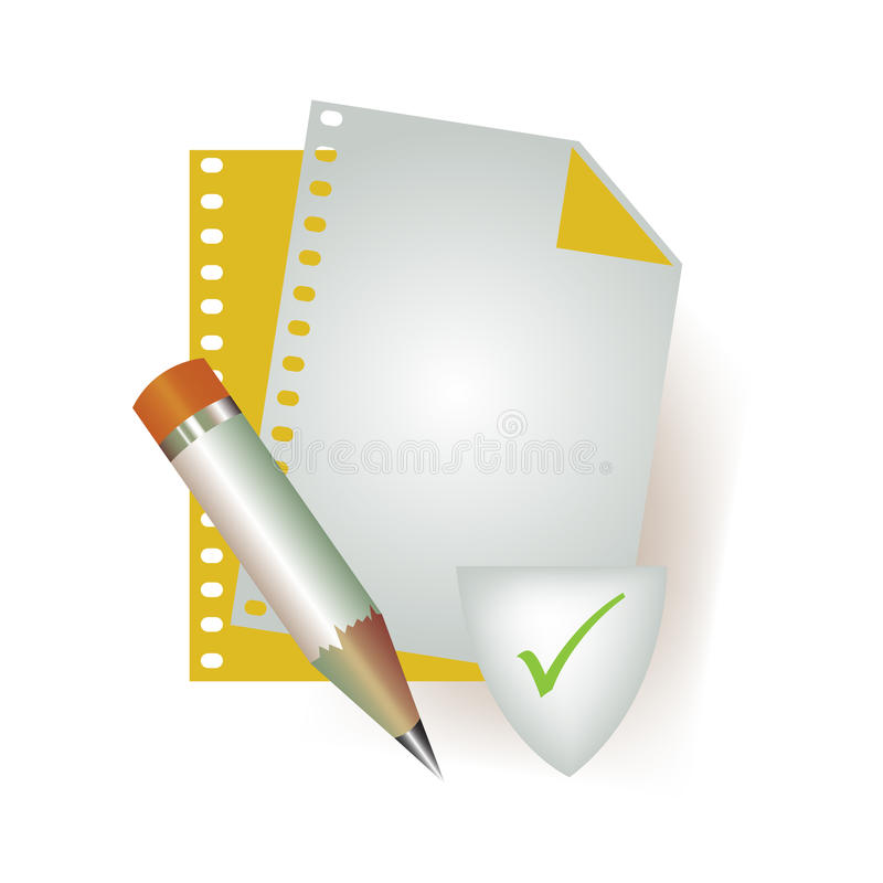 Download Correct file icon stock illustration. Image of computer - 13853825