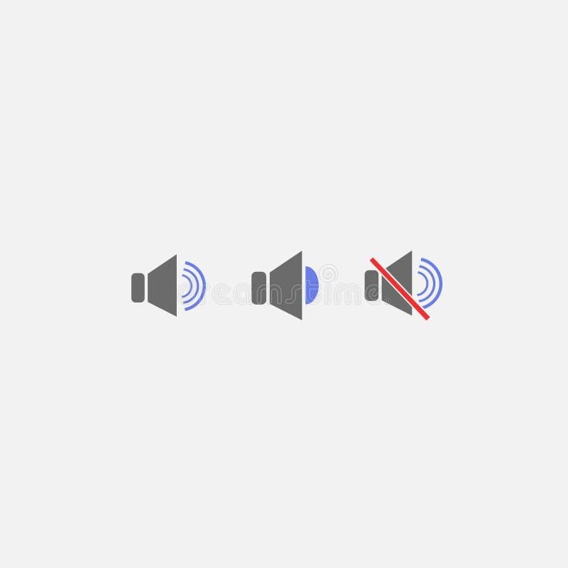 Correct pictogram Het symbool van geluid Vector illustratie Eps 10 royalty-vrije illustratie