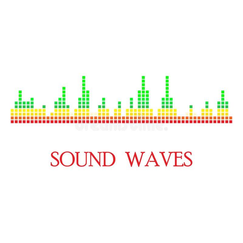Correcte & Audiogolven stock illustratie