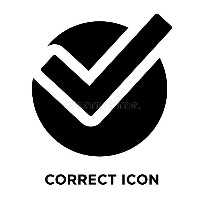 Correcte die pictogramvector op witte achtergrond, embleemconcept o wordt geïsoleerd royalty-vrije illustratie