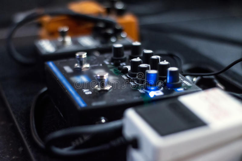 Correcte effect analogic pedalen in een overlegstadium royalty-vrije stock fotografie