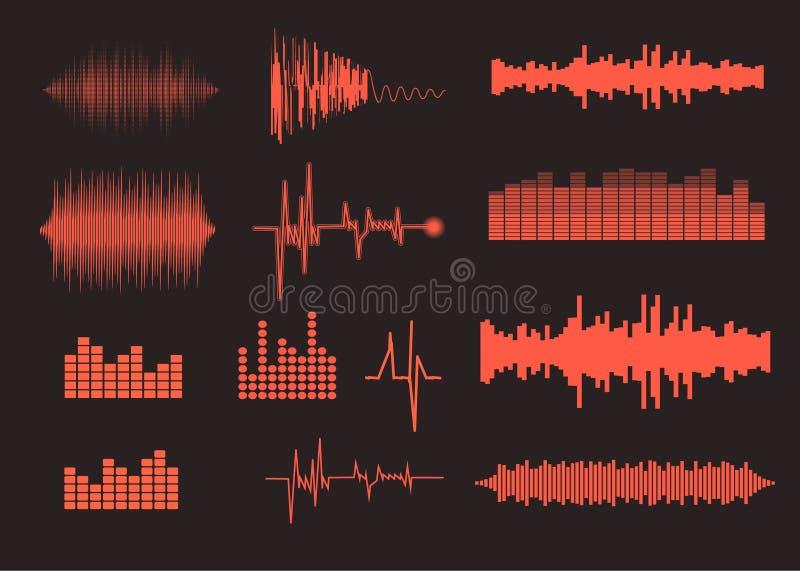 Correcte geplaatste golven De achtergrond van de muziek EPS 10 vector vector illustratie