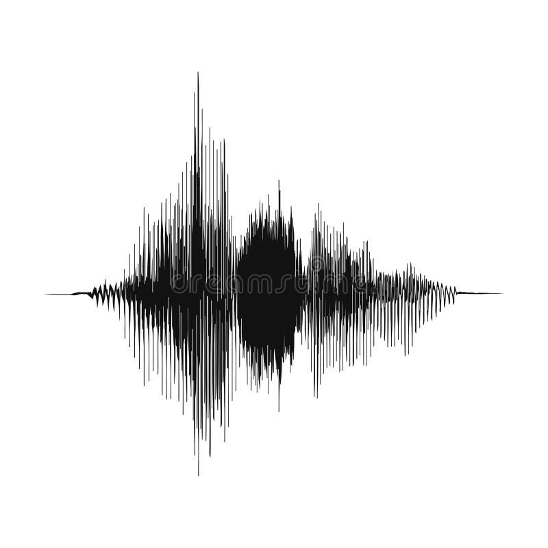 Correcte golf Het concept van de stemopname en het concept van de muziekopname Omvang van analoge audiogolf stock illustratie