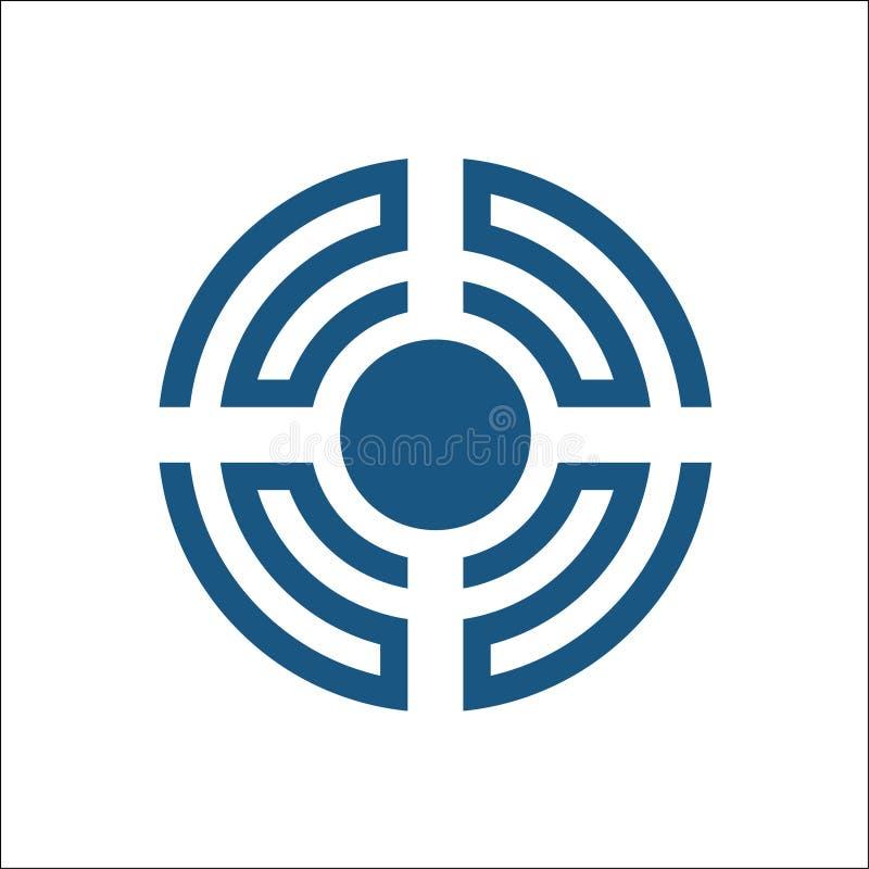 Correcte Golf Logo Design Element vector illustratie