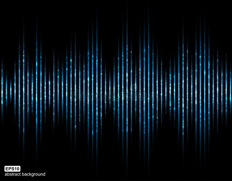 Correcte Golven Muziek Digitale Equaliser Abstracte lichte futuristische achtergrond stock illustratie