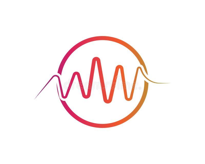 Correcte golven vectorillustratie vector illustratie