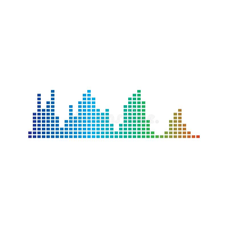 Correcte golven vectorillustratie royalty-vrije illustratie