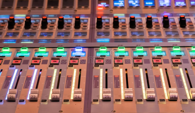 Correcte mixercontrole royalty-vrije stock fotografie
