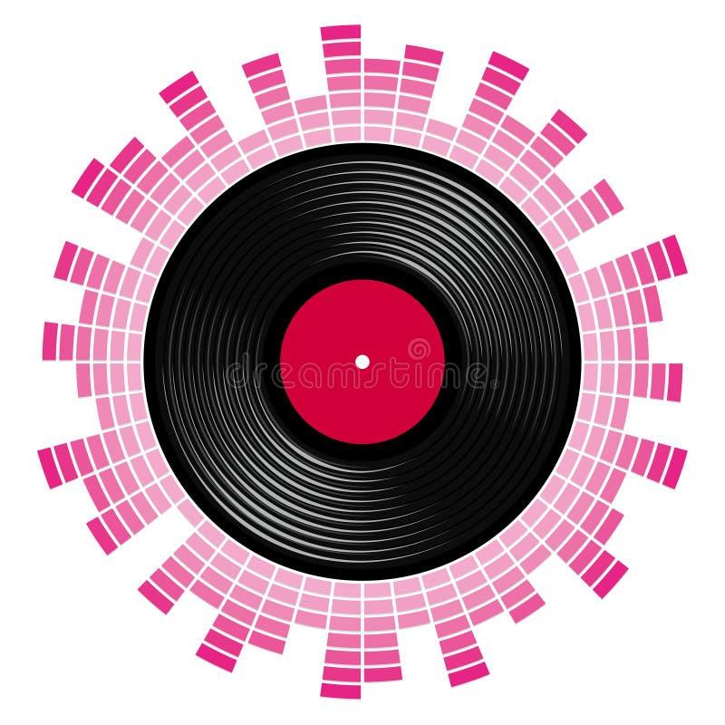 Correcte schaal met vinylverslag royalty-vrije illustratie