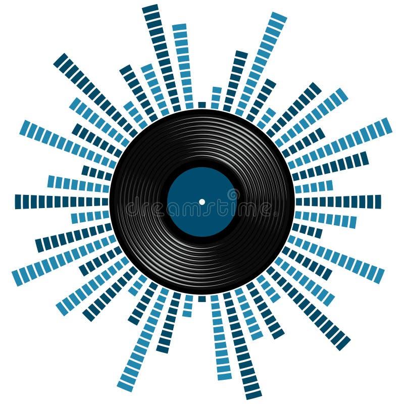 Correcte schaal met vinylverslag vector illustratie