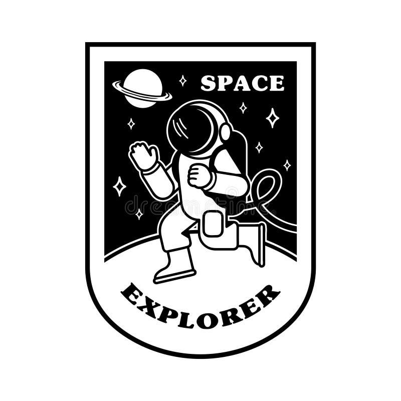Correction avec l'astronaute illustration libre de droits