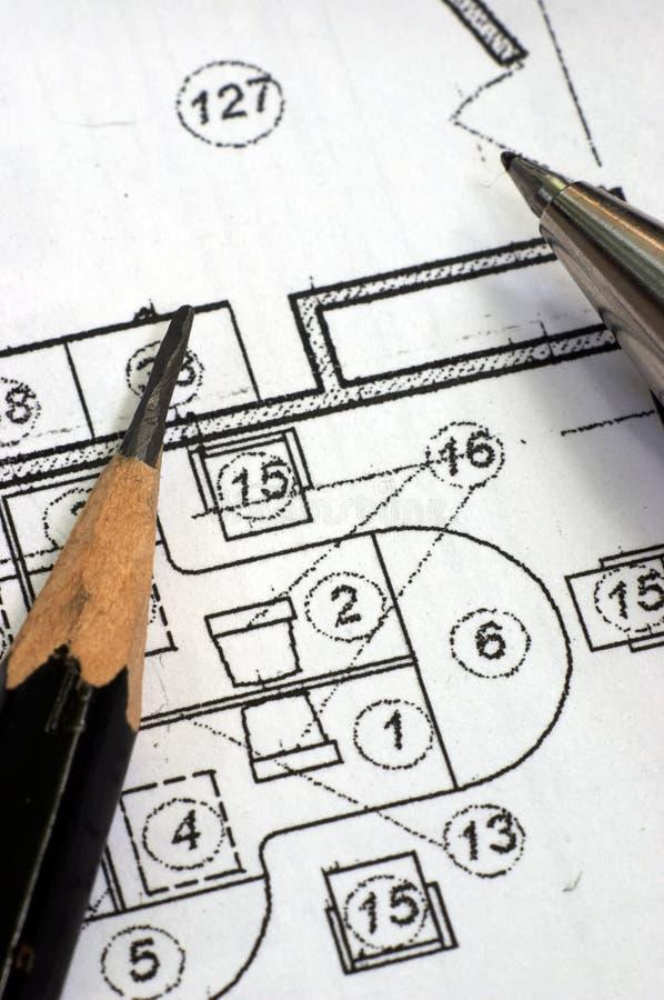 Download Correction blueprints stock photo. Image of architects - 1083566