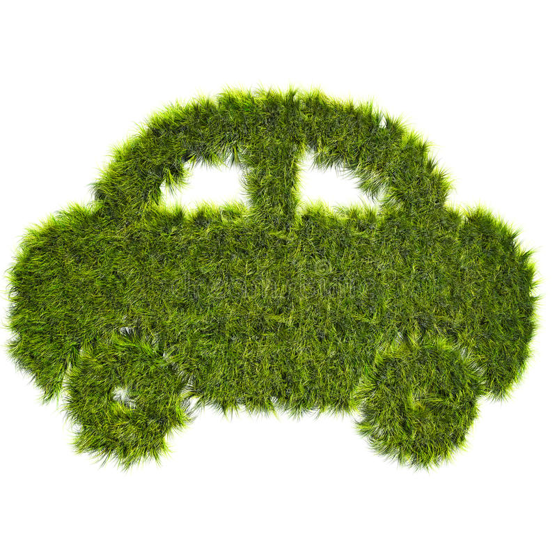 Correction d'herbe formée par véhicule illustration de vecteur