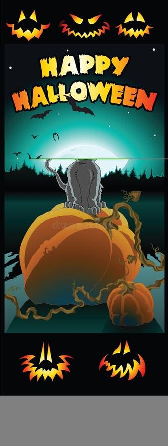 Correction Kitty de potiron illustration stock