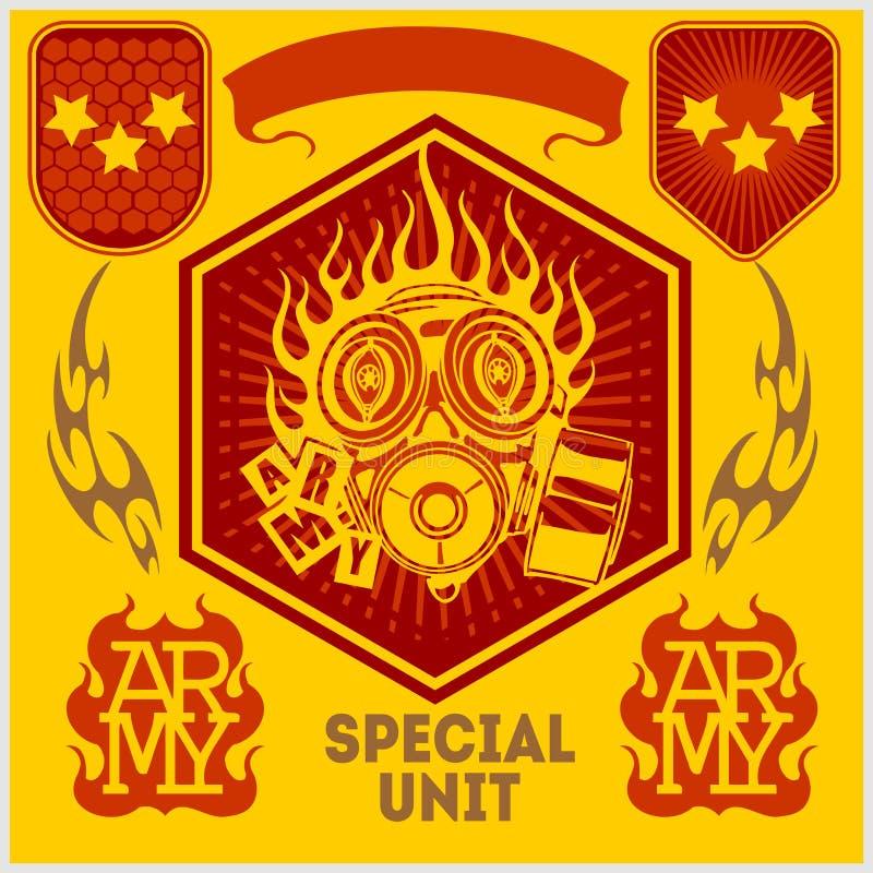 Correction militaire d'unité spéciale - ensemble de vecteur illustration de vecteur