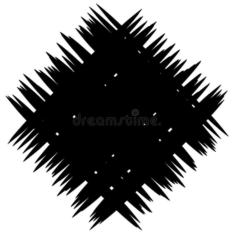 Correction monochrome abstraite avec les lignes aléatoires et irrégulières illustration stock